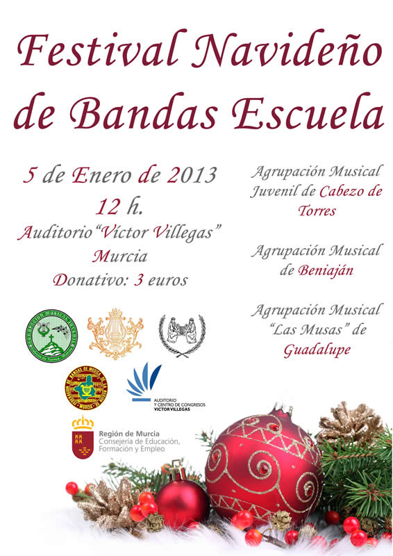 Cartel Festival Navideno de Bandas Escuela